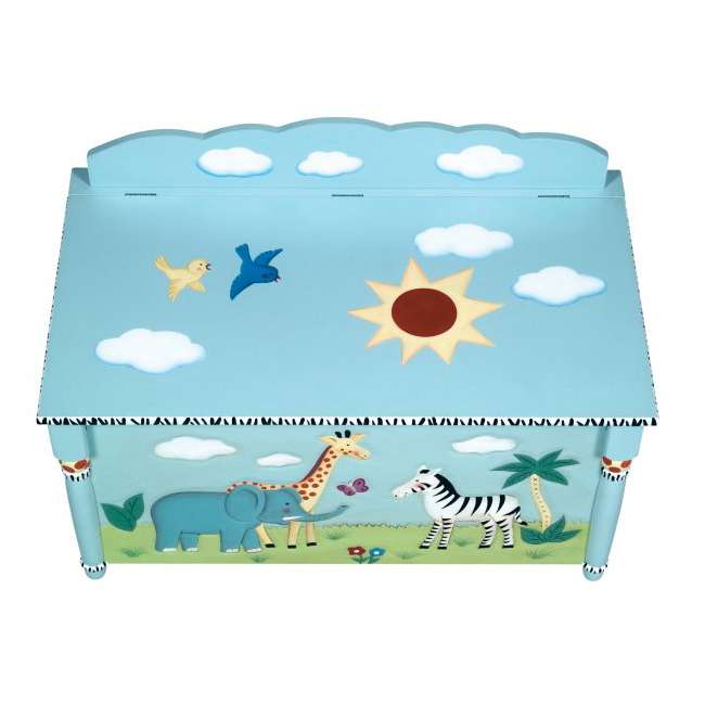 G83208 Guidecraft Safari Toy Box 3