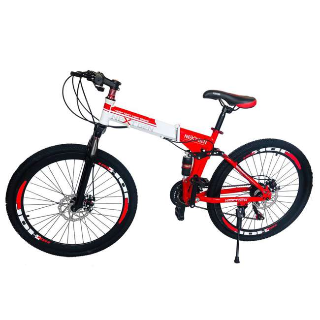 "MTB015-R NextGen 26"" 21 Speed Shimano Foldable Hardtail Downhill Mountain Bike Bicycle"