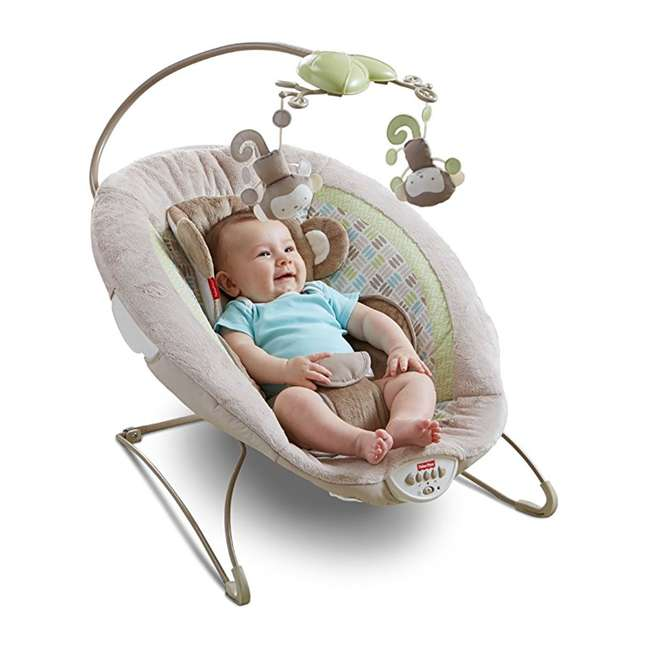 Fisher Price My Little Snugamonkey Deluxe Infant Bouncer