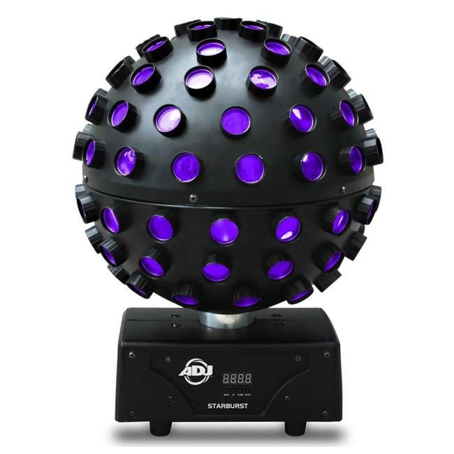 STARBURST + MINISTROBE-LED American DJ Starburst HEX LED Sphere Lighting Effect and Mini LED Strobe Light 1
