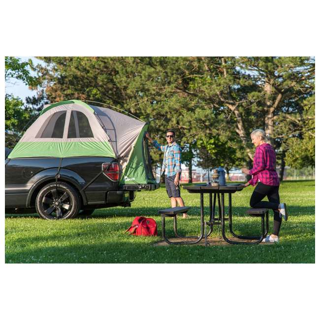 13100 + PPI PV202C Napier BackRoadz 13100 SUV and Minivan Tent w/ GreenAirBedz Inflatable Pickup Truck Air Mattress 4