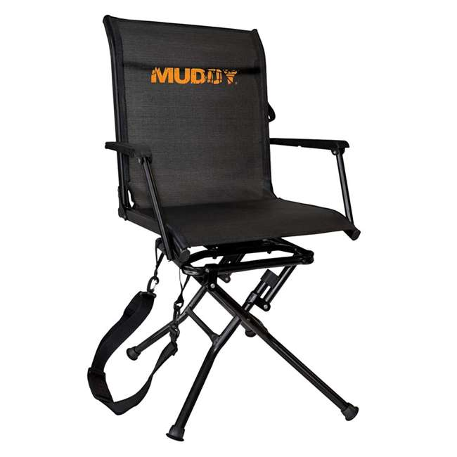 MUD-MGS400 Muddy MGS400 Flex Tek Swivel-Ease Portable Ground Camping & Hunting Seat, Black