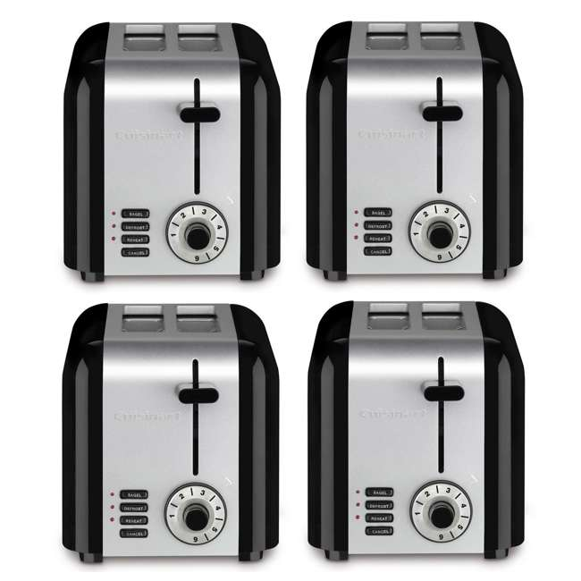 4 x CPT-320-RB Cuisinart 2-Slice Compact Toaster (Certified Refurbished) (4 Pack)