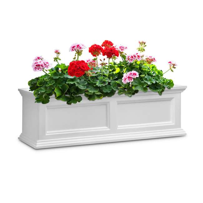 MO-5822-W Mayne Fairfield 2 Ct Windowsill Planter Box Decorative Bracket Supports, White