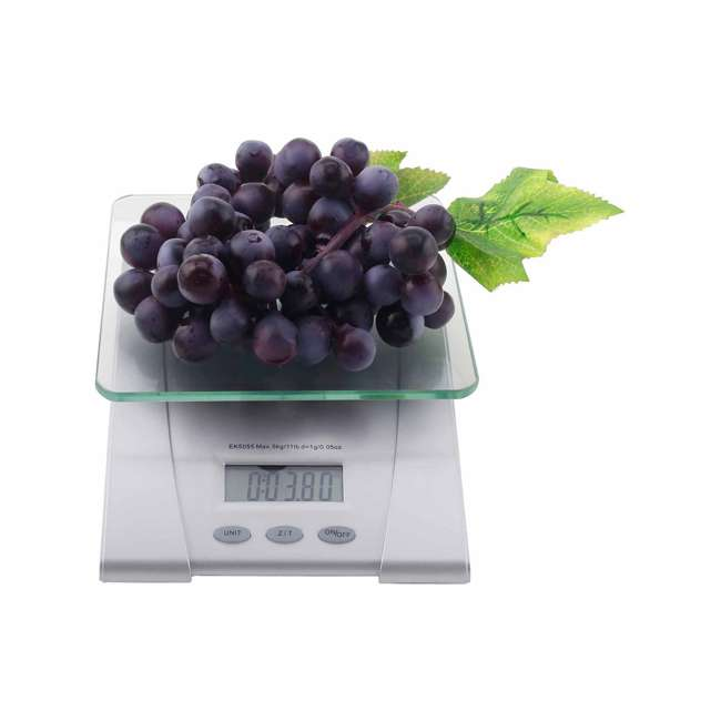 MS1304141034_ENB-RB Mainstays Digital Kitchen Scale (Certified Refurbished), Silver