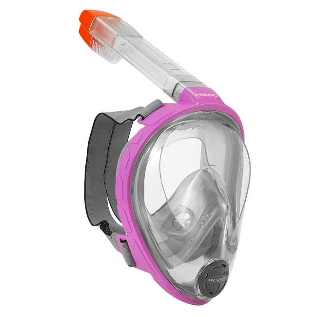 496325-PKGRXS + 480203-SFPKSM Head Sea VU Dry Full-Face Adult XS/S Snorkel Swim Mask & S/M Fins 1