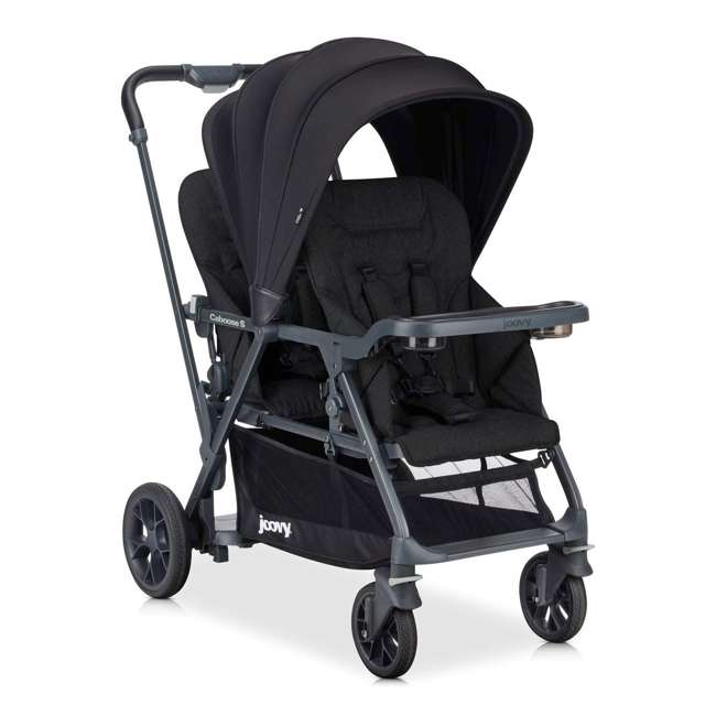 8217 + 9111 Joovy Folding Sit and Stand Double Stroller w/ Parent Organizer 1