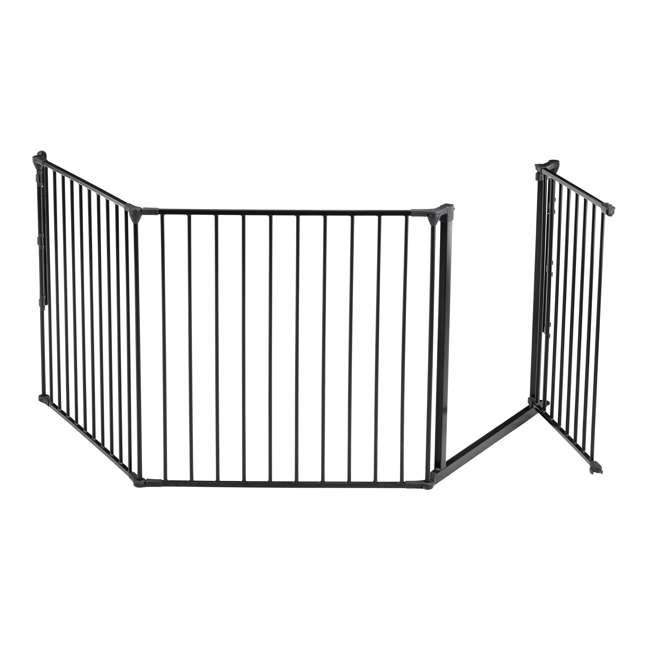 BBD-56226-10600 BabyDan Flex 35.4-87.8 Large Size Metal Safety Baby Gate & Room Divider, Black 1
