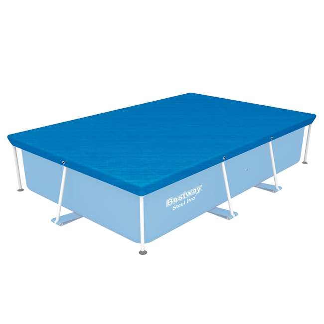 58105-BW-U-A Bestway Flowclear Pro Rectangular Above Ground Swimming Pool Cover (Open Box)