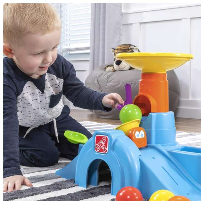 497400 Step2 497400 Durable Toddler Ball Buddies Tunnel Tower with 10 Colorful Balls 2