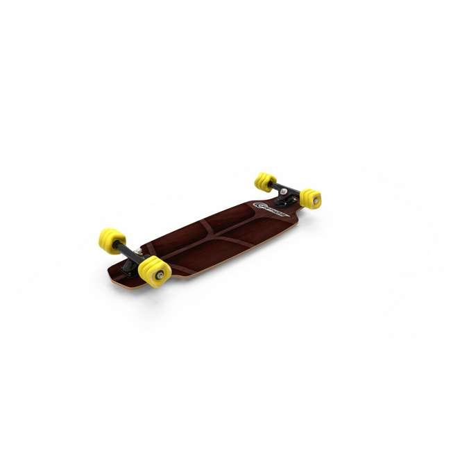 08217-SHARK Fathom by Shark Wheel Roam Mini Drop Longboard Complete, Teal 6