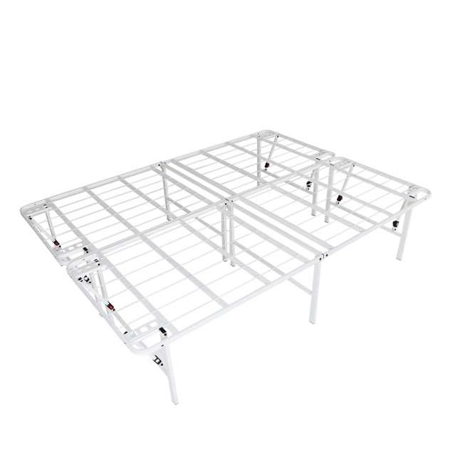 VMI-18QIB2-112-WT-U-A intelliBASE Bi-Fold Platform White Metal Bed Frame, Queen