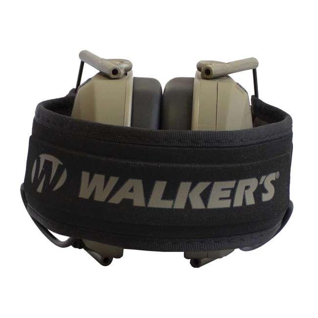 GWP-RSEM-MFDE + GWP-REMSC Walker's Razor Electronic Shooting Ear Muffs, Dark Earth & Storage Case, Black 3