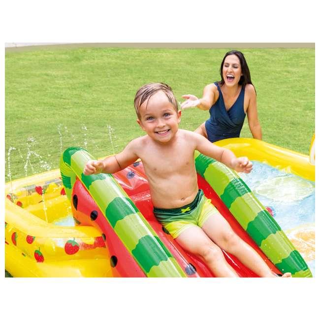 57158EP Intex 57158EP Fun'N Fruity Outdoor Inflatable Kiddie Pool Play Center with Slide 3