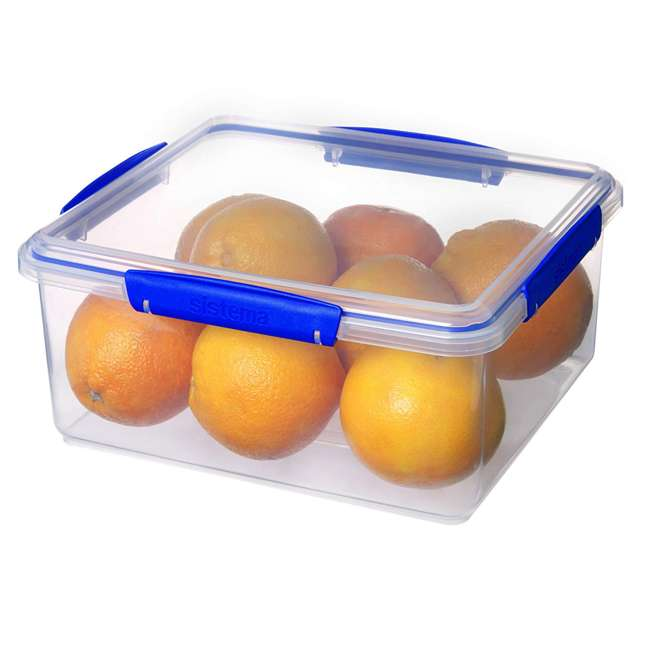 SISTEMA-1850 Sistema 1850 Klip It Rectangle Food Storage Box Container, 21 Cup 1