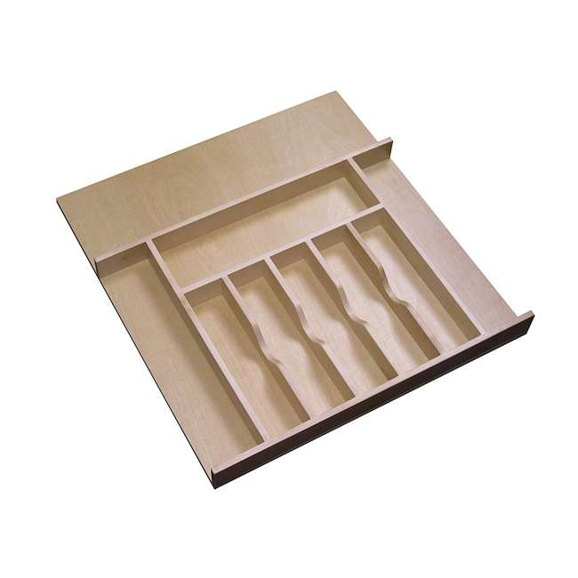 4WCT-3SH Rev-A-Shelf 4WCT-3SH Wooden Cutlery Tray Insert Organizer for Cabinet Drawers