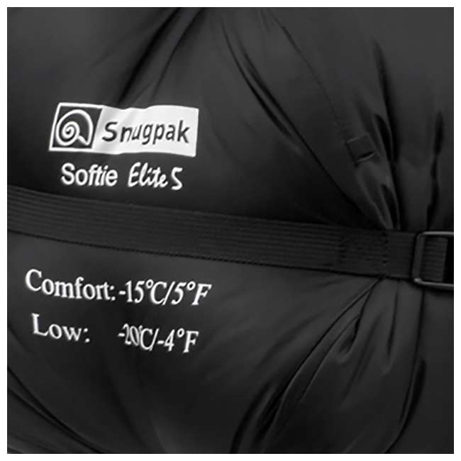 6 x SNUG92846 Snugpak Softie Elite 5 Warm Outdoor Camping Sleeping Bag, Black (6 Pack) 5