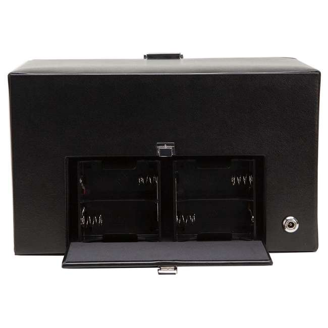 270102 WOLF 270102 Heritage Compact Electric Double Watch Winder Case with Cover, Black 2