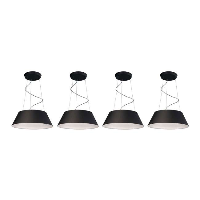 4 x PLC-405503048 Philips 405503048 Ledino Cielo Pendant Light, Black (4 Pack)