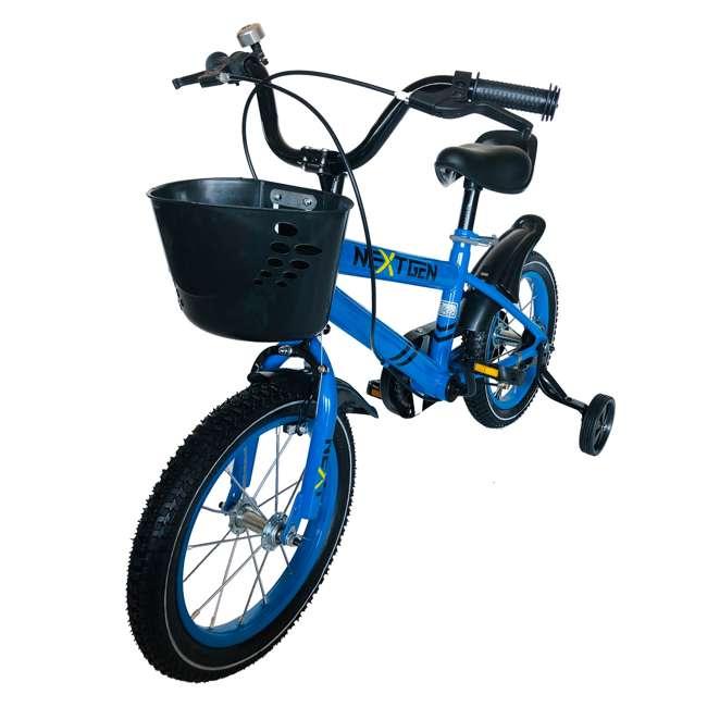 14BK-BLU NextGen 14 Inch Childrens Kids Bike Bicycle with Training Wheels & Basket, Blue