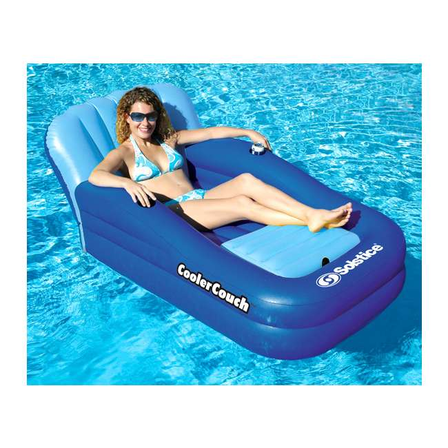15181SF-U-B Swimline Solstice Swimming Pool Inflatable Float Cooler Couch Lounge (Used) 4
