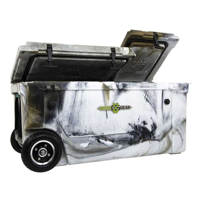 HC75-17P WYLD 75 Quart Pioneer Dual Compartment Insulated Cooler w/ Wheels, Prairie Camo
