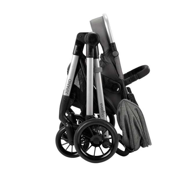 13812254 Evenflo Pivot Xpand Full Size Modular Convertible Baby Stroller, Percheron Gray 5