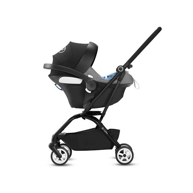 518001259  Cybex Eezy S Twist Travel System Baby and Toddler Stroller w/ Sun Canopy, Black 7