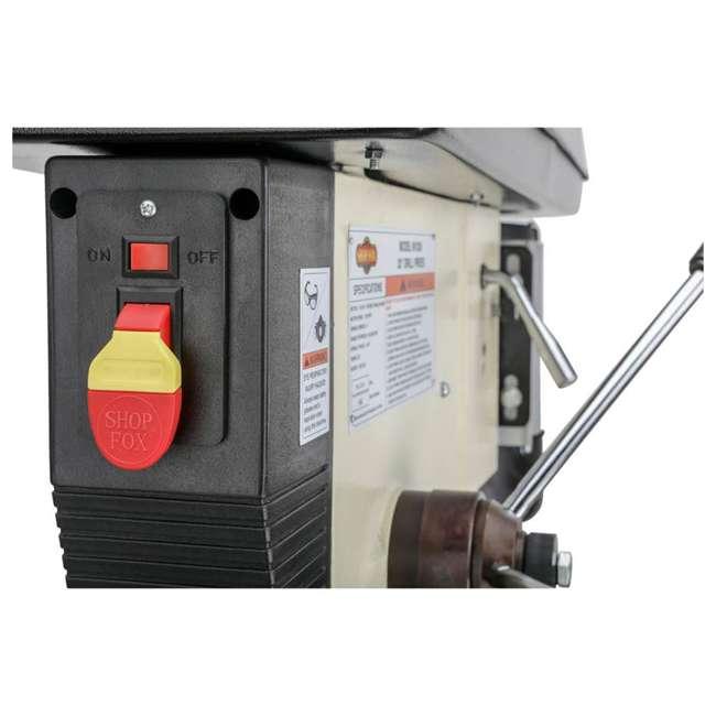 M1039 Shop Fox M1039 20 Inch 1.5 Horsepower Floor Drill Press with Work Light, White 5