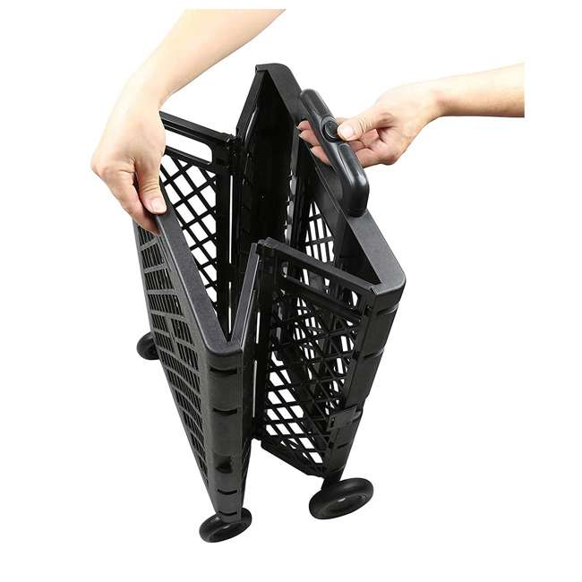 85-404 Olympia Tools 85-404 Pack n Roll Portable Folding Mesh Rolling Storage Cart 4