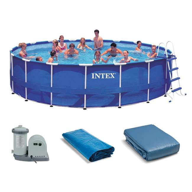 Intex 18 39 X 48 Metal Frame Above Ground Swimming Pool Set 28251eh