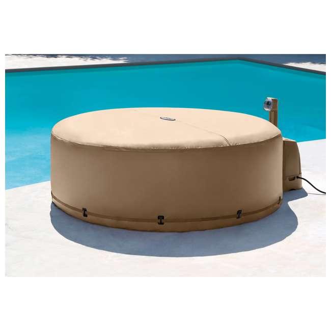 28523E + 2 x 28505E + 2 x 28502E Intex PureSpa Hot Tub Cover w/ Foam Headrest (2 Pack) & Removable Seat (2 Pack) 4