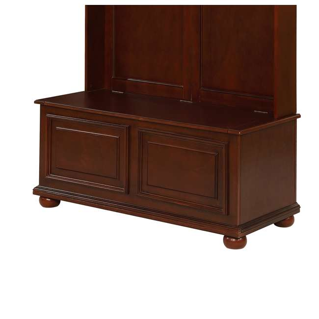 PF-15A7058 Powell Furniture Chadwick Multi-Functional Hall Tree, Brown 1