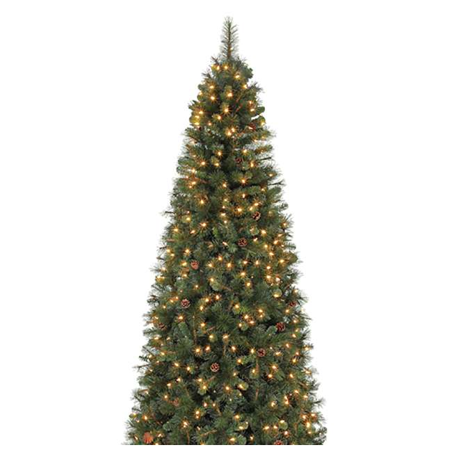 Artificial Christmas Tree With Pine Cones: Home Heritage Albany 12-Foot LED Artificial Christmas Tree