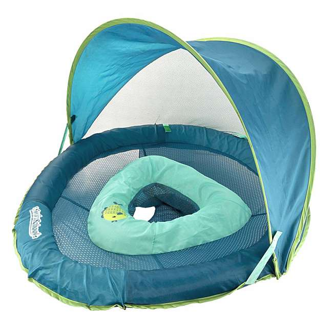 SSP10152 Aqua Leisure SwimSchool 6 to 24 Months BabyBoat, Aqua