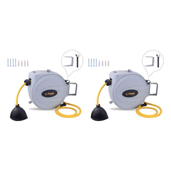 "BL-GW100 Bloom USA BL-GW100 Retractable 1/2"" x 100' Hose Reel (2 Pack)"