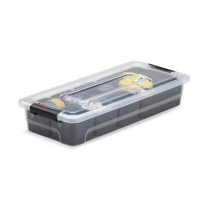 FBA32231 Ezy Storage Sort It 2.5 Quart BPA Free Plastic Stacking Container/ Bin w/ 6 Cups 2