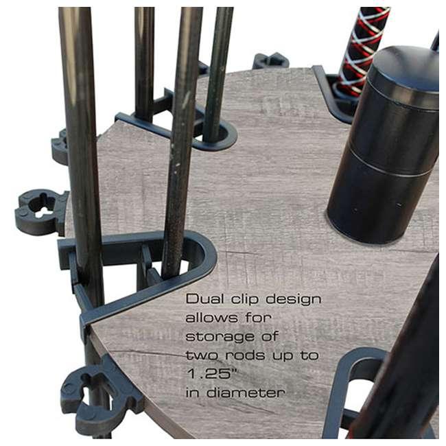 38-3031 Rush Creek Creations 38-4053 Round 16 Fishing Rod Storage Rack Organization 1