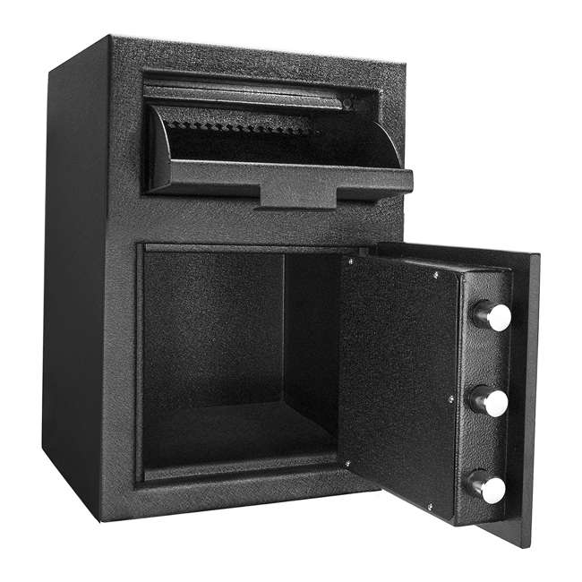 BARSKA-AX12588-OB Barska DX-200 Standard Solid Steel Depository Box Keypad Safe(Open Box) 1