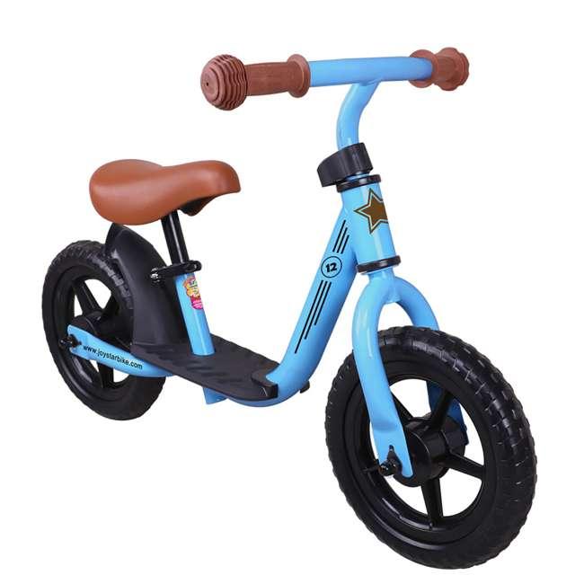 BIKE055bl Joystar Roller 12 Inch Kids Toddler Training Balance Bike Bicycle, Ages 2 to 4