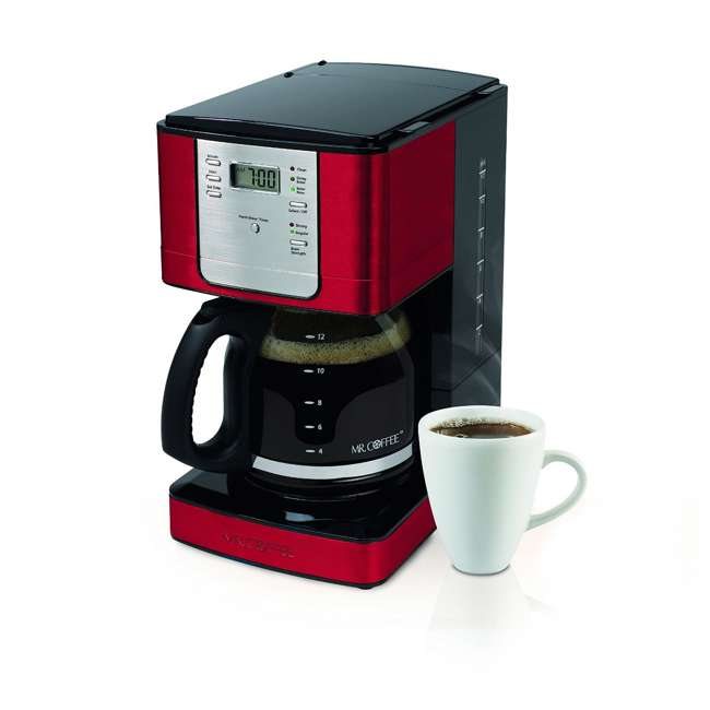 Mr Coffee Maker In Red : Mr. Coffee 12-Cup Programmable Coffee Maker, Red : JWX36RR