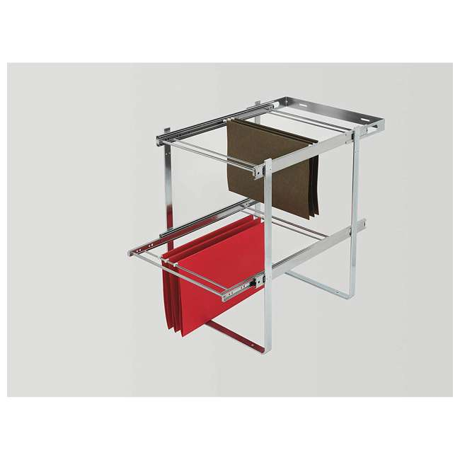 RAS-FD-KIT Rev-A-Shelf RAS-FD Series 2 Tier Standard Height Base Cabinet Organizer, Chrome 1