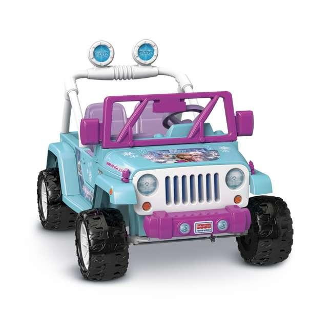CLD96-U-A Power Wheels Disney Frozen Jeep Wrangler 12V Electric Kids Ride On Toy(Open Box)