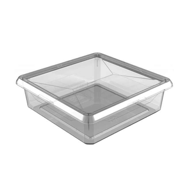 FBA32784 Ezy Storage Karton 6 Liter/6.3 Quart Plastic Storage Container Bin Box w/ Lid
