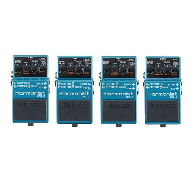 4 x PS-6 Boss PS-6 Pitch Single Effect Harmonist Pedal Guitar Stompbox (4 Pack)