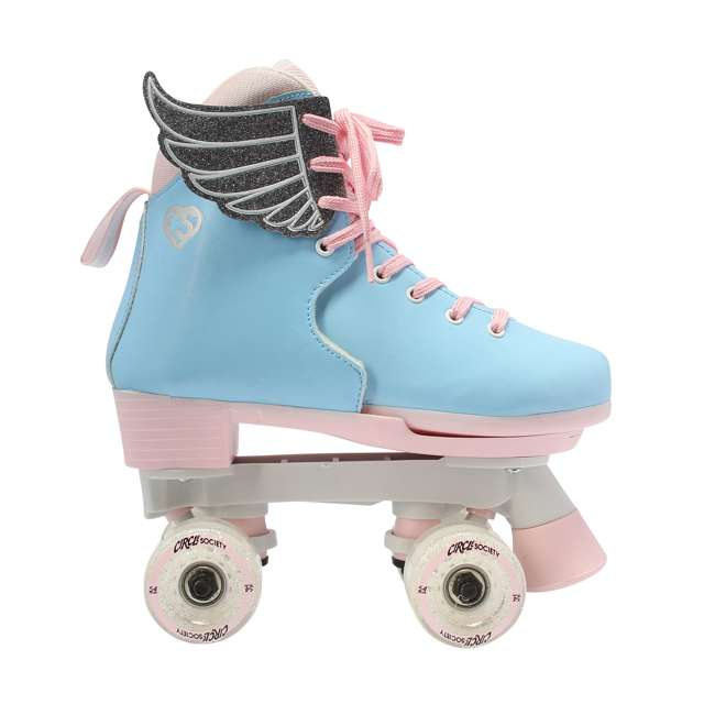 168260 Circle Society Classic Cotton Candy Kids Skates, Girls Sizes 12 to 3 2