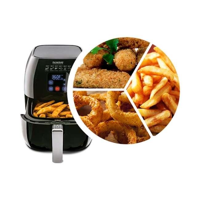 NW-36001 NuWave Brio 3-Quart 2-Piece Digital Air Fryer, Black 4