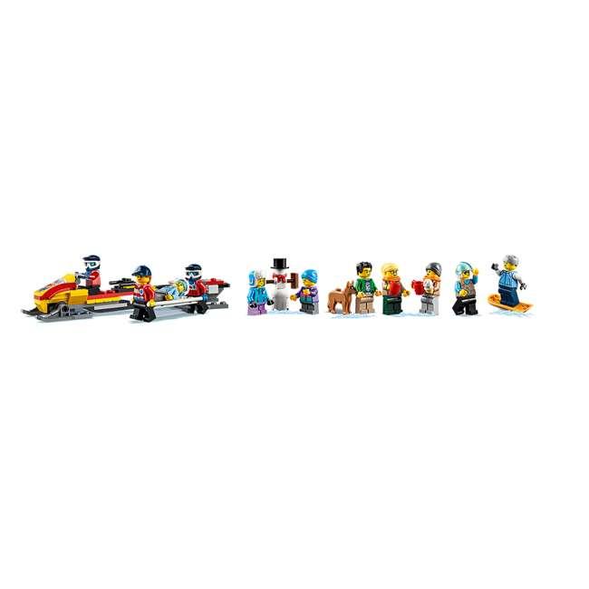6283902 LEGO City 60203 Winter Ski Resort Building Kit 806 Pieces w/ 11 Minifigures 5
