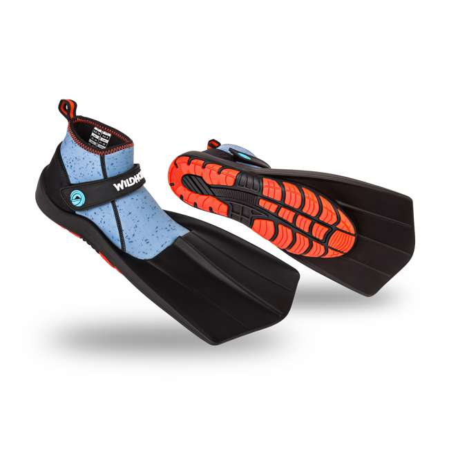 TS-MR-M9-W9-9.5 Wildhorn Men's 9 - Women's 9-9.5 Topside Hydro Snorkel Flippers, Manta Ray