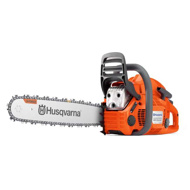 HV-CS-966048328 Husqvarna 460 Rancher 60.3cc 18 Inch 3/8 Pitch 3.6 HP Gas Chainsaw, Orange